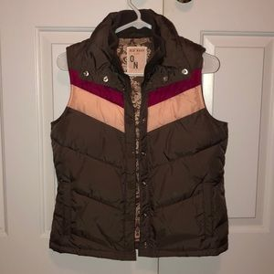 brown old navy vest